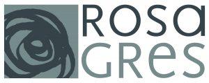 Logo Rosa Gres Gris (50x20cm)
